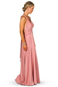 Convertible Bridesmaid Dress Maxi - Dusty Pink ...