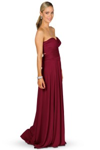 Convertible Bridesmaid Dress Maxi - Burgundy - Bridesmaids etc