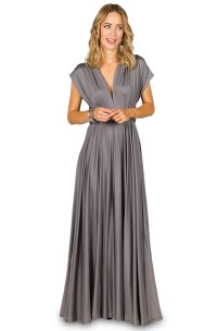 Convertible Bridesmaid Dress Maxi - Pewter - Bridesmaids etc