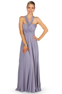 Convertible Bridesmaid Dress Maxi - Periwinkle ...