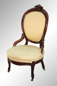 SOLD Antique Victorian Walnut Gentleman's Chair with Burl ...
