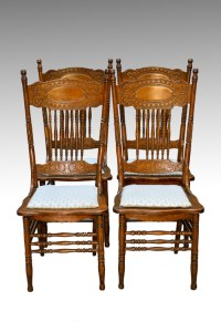 Antique Pressed Back Chairs | Antique Furniture