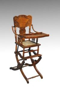 16176 Antique Victorian Oak Press Back Rocker Collapsible ...