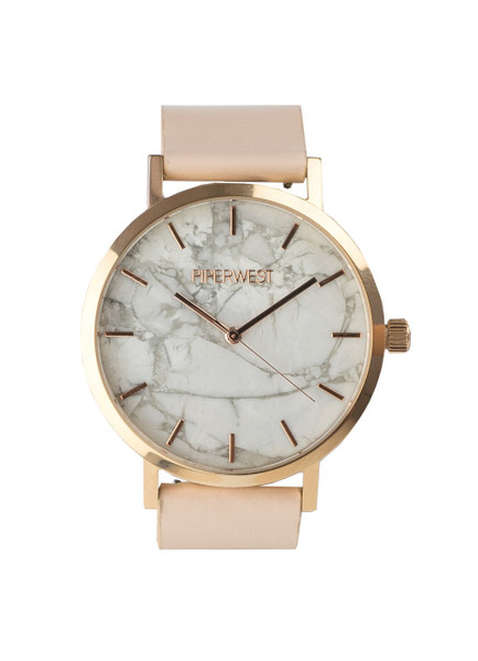 rose gold and marble watch