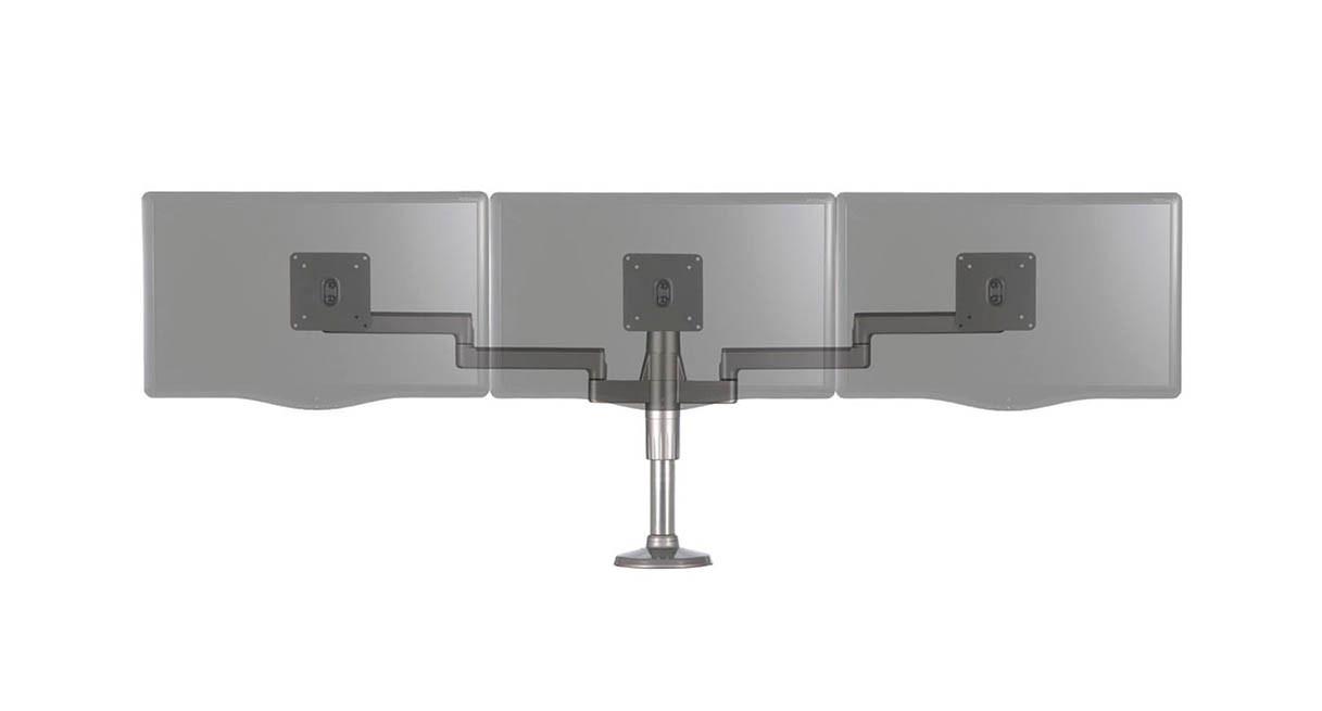 Shop Humanscale MFlex Monitor Arm  Three Monitor Solution