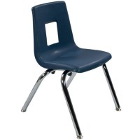 Navy Stack Chair 14in | Student Chairs | Classroom ...