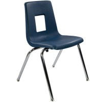 Advantage 18-in Navy Student Stack School Chair ...