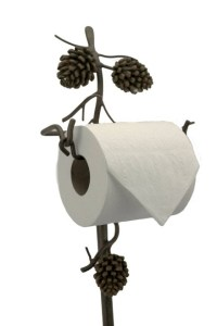 Pine Cone Floor Toilet Paper Holder - American Expedition