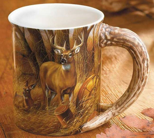 Deer Sculpted Mug  Rustic Retreat