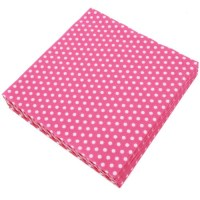 Hot Pink Polka Dot Napkins (20) - Baby Shower Host