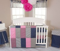 Matching Pink and Green Boy Girl Nursery Bedding Sets for ...