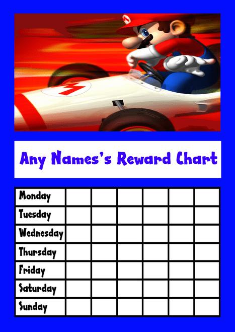 Super Mario Star Sticker Reward Chart  The Card Zoo