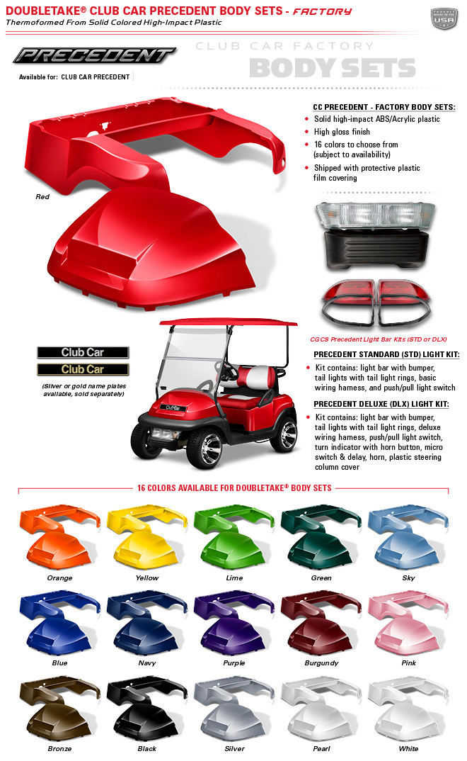 Wiring Diagram For Golf Cart Batteries Club Car Precedent Body Kits By Double Take Factory Oem