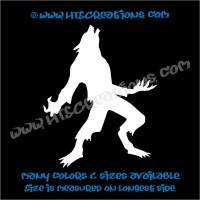 Werewolf Wolfman Folklore Dog Witch Hunt Vinyl Decal Truck ...