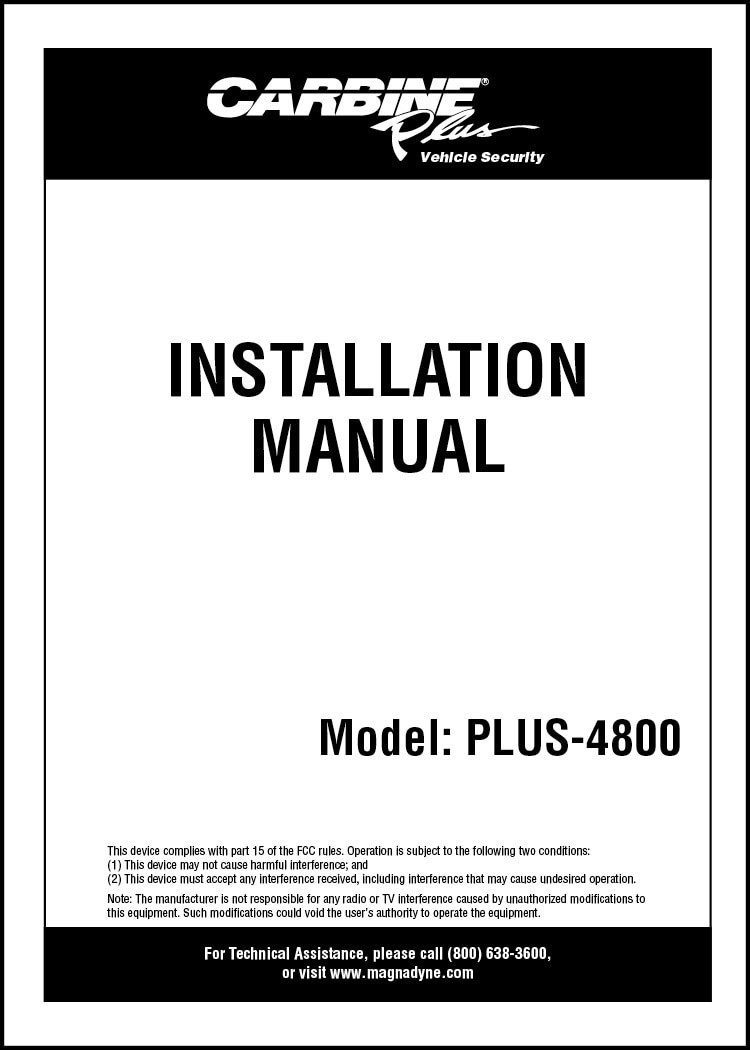 carbine plus 4800 installation manual car alarm relay wiring carbine car alarm wiring diagram [ 750 x 1050 Pixel ]