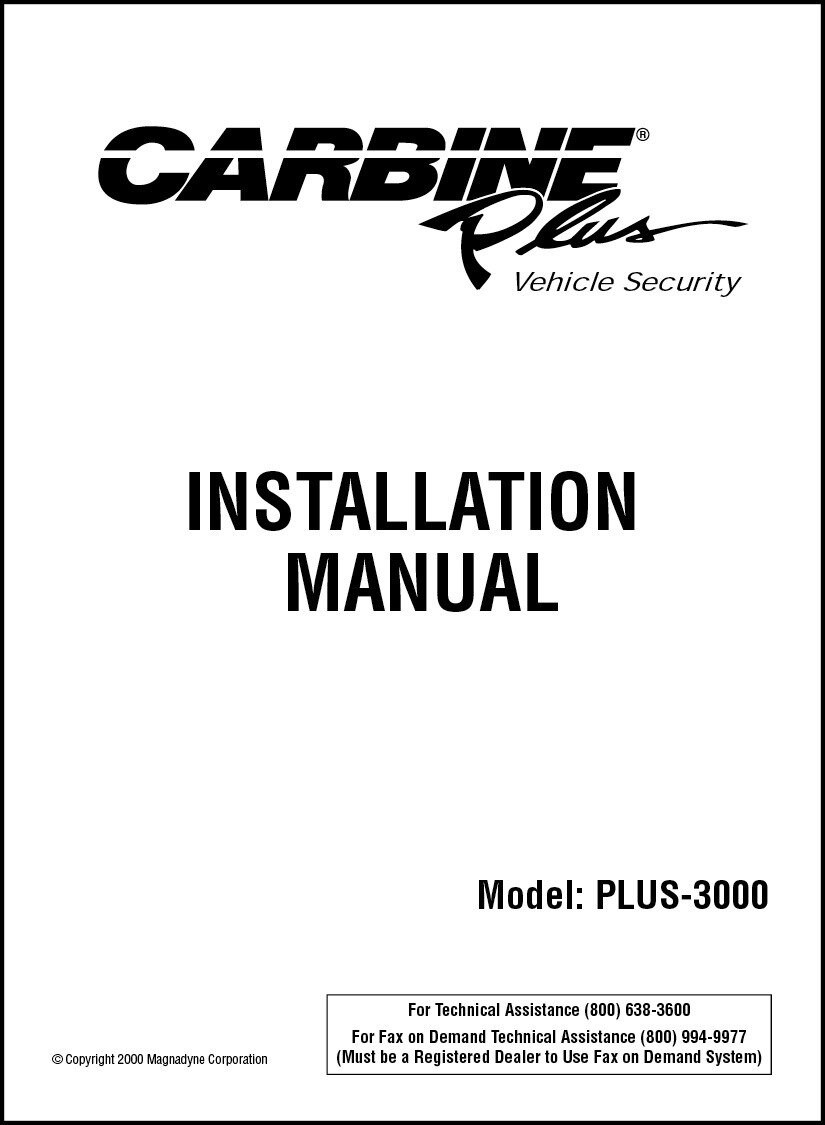 medium resolution of carbine plus 3000 installation manual alarm schematic diagram carbine car alarm wiring diagram