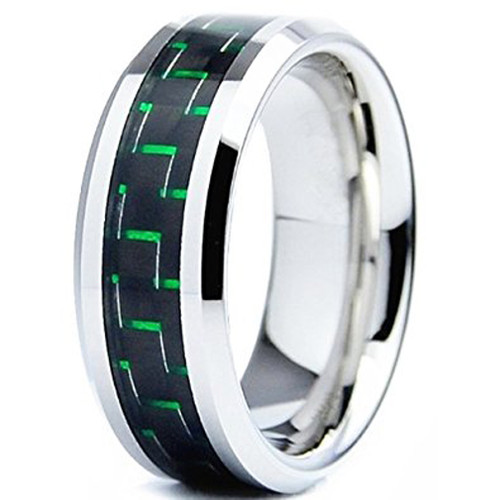 8mm Unisex Or Mens Tungsten Wedding Bands Silver Ring