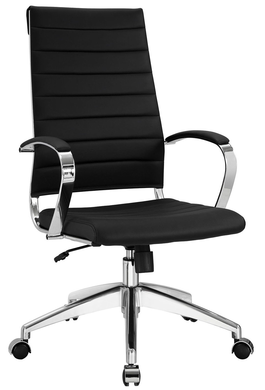 Black Office Chairs Aria Leather High Back Office Chair Many Colors