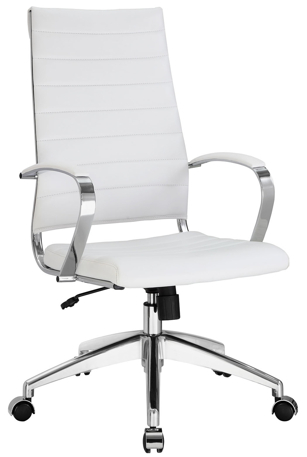 White Rolling Chair Aria Leather High Back Office Chair Many Colors