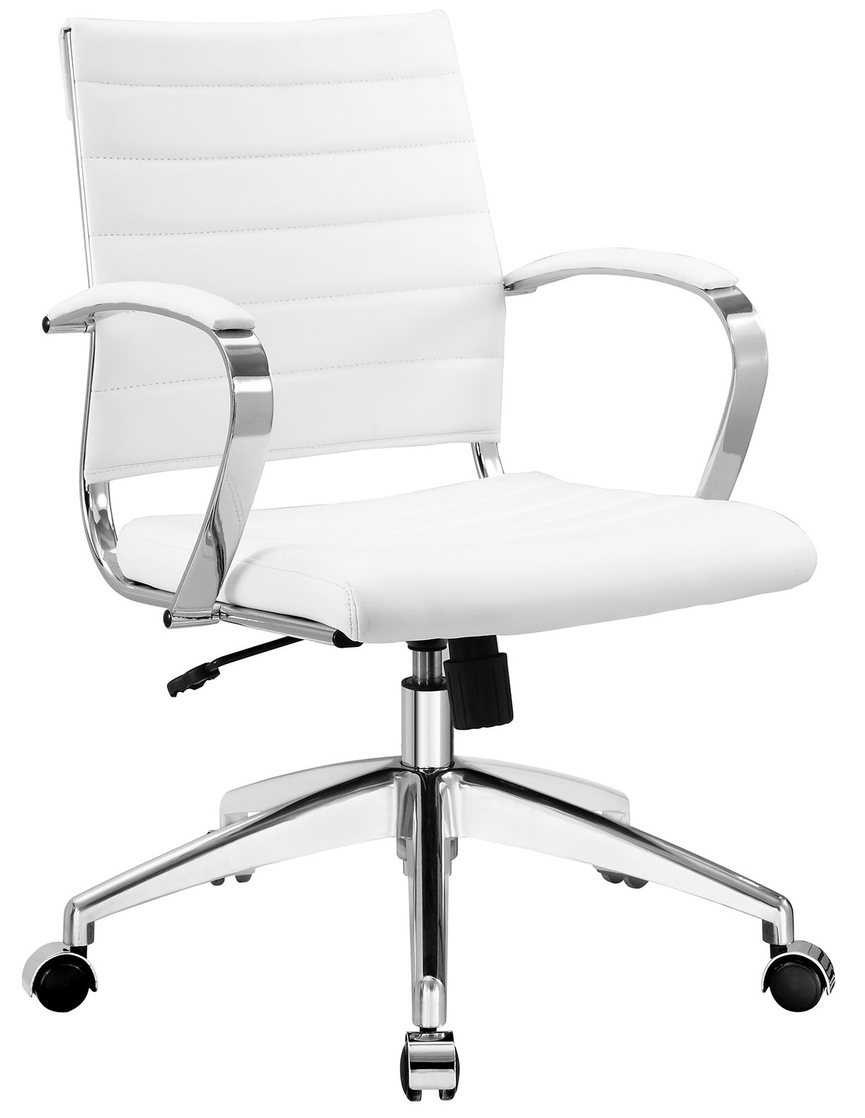 White Rolling Chair Aria Leather Office Chair Advancedinteriordesigns