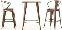 Darius Modern Bar Height Table, Copper Bar Table