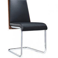 Contemporary Dining Chairs Indoor Chair Swing Milo Walnut And Black Modern