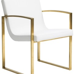 Steel Chair Gold Ergohuman Accessories Clara Dining Brushed Stainless
