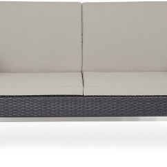 6pc Outdoor Patio Garden Wicker Furniture Rattan Sofa Set Sectional Grey Deep Sofas For Tall People Black Pc ...