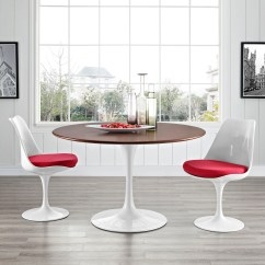 Tulip Dining Room Chairs Inflexion Posture Chair Flower Table Walnut Round Top Mid Century