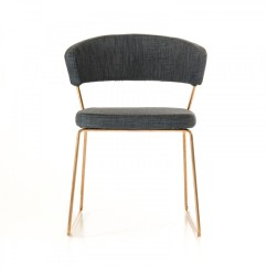 Modern Gray Dining Chairs Gravity Chair Target Rudolpho Grey With Rose Gold