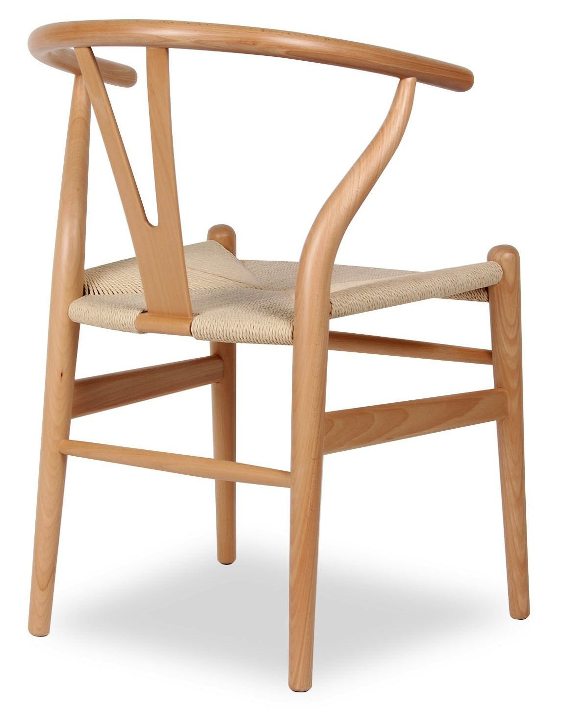 white wishbone chair replica traditional dining room chairs hans wegner style in natural wood