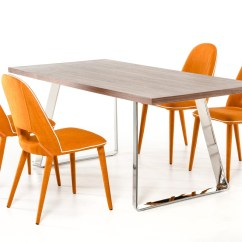 Orange Dining Chairs Uk Bedroom Chair Decor Table Set Room Ideas