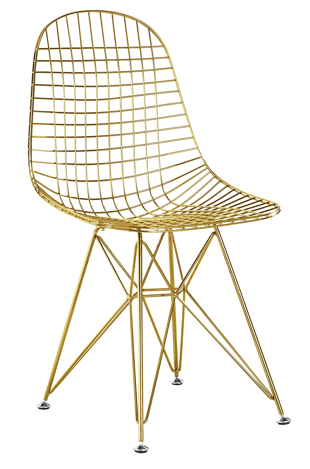 wire dining chairs daycare table and chair set in gold finish side