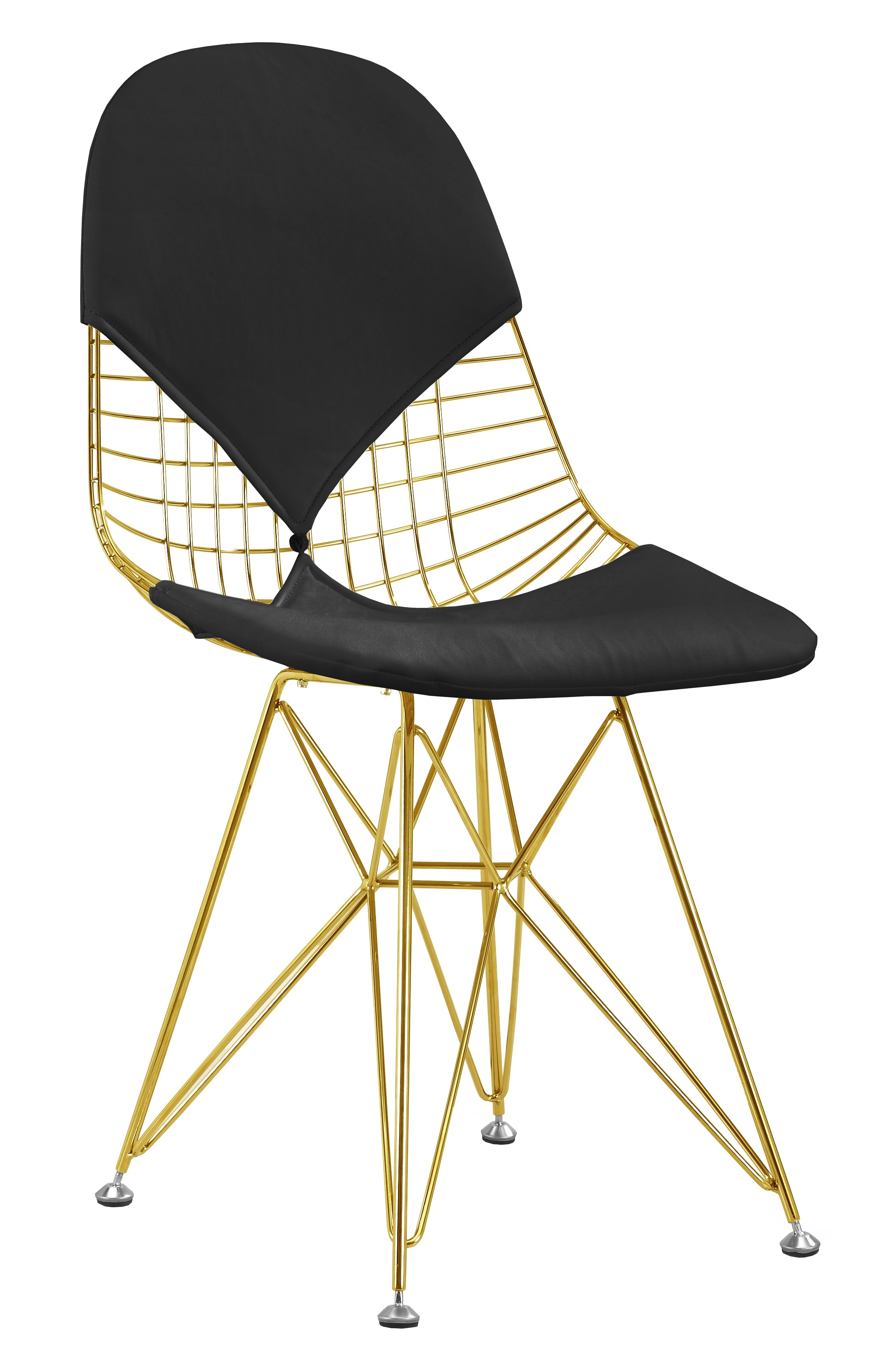 black chair dining room covers walmart wire in gold finish side