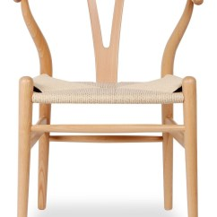 Wishbone Chairs Lawn Chair Webbing Hans Wegner Wood Reproduction 198 Many