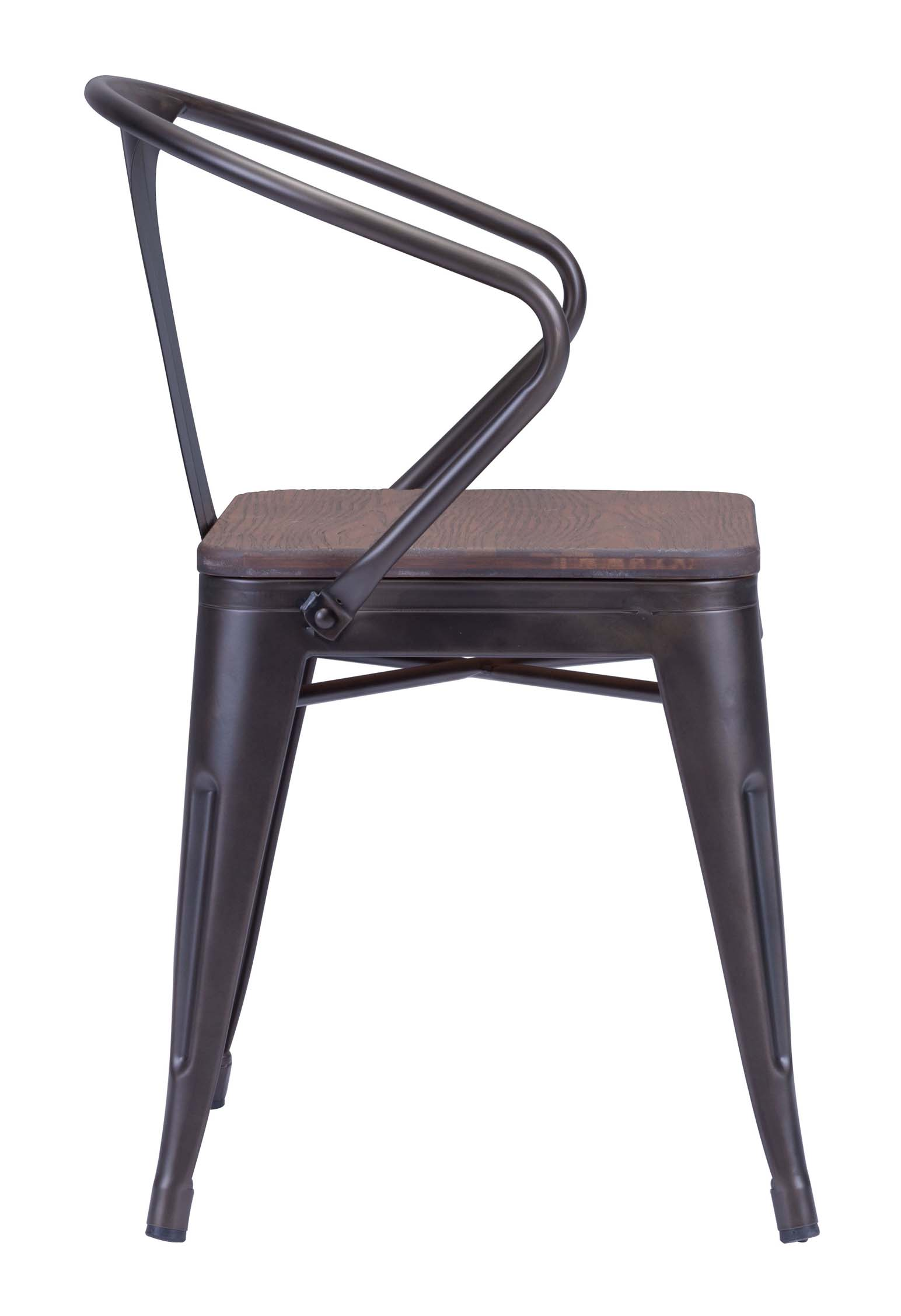 Rustic Wood Chairs Zuo Helix Dining Chair With Wood Seat Gunmetal Chairs