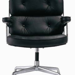 Leather Office Chairs Without Arms Black Padded Folding Chairman Executive Chair With No Wheels