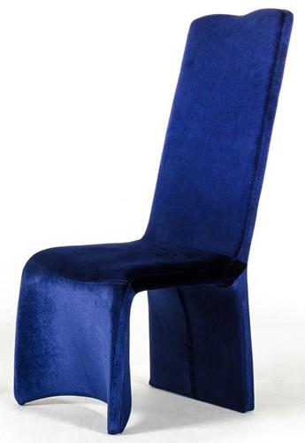 Zaffiro Blue Upholstered Chair  Dining Chair Blue