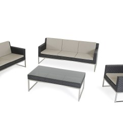 Outsunny 4pc Rattan Wicker Outdoor Patio Furniture Sofa Set Factory Birmingham Opening Times Black Durable Corner Sofas Blogbeen ...