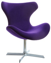 Rogers Purple Lounge Chair - Modern Purple Accent Chair