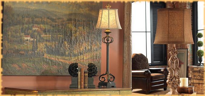 Tuscan Lamps  Lighting  BellaSoleilcom Tuscan Decor and