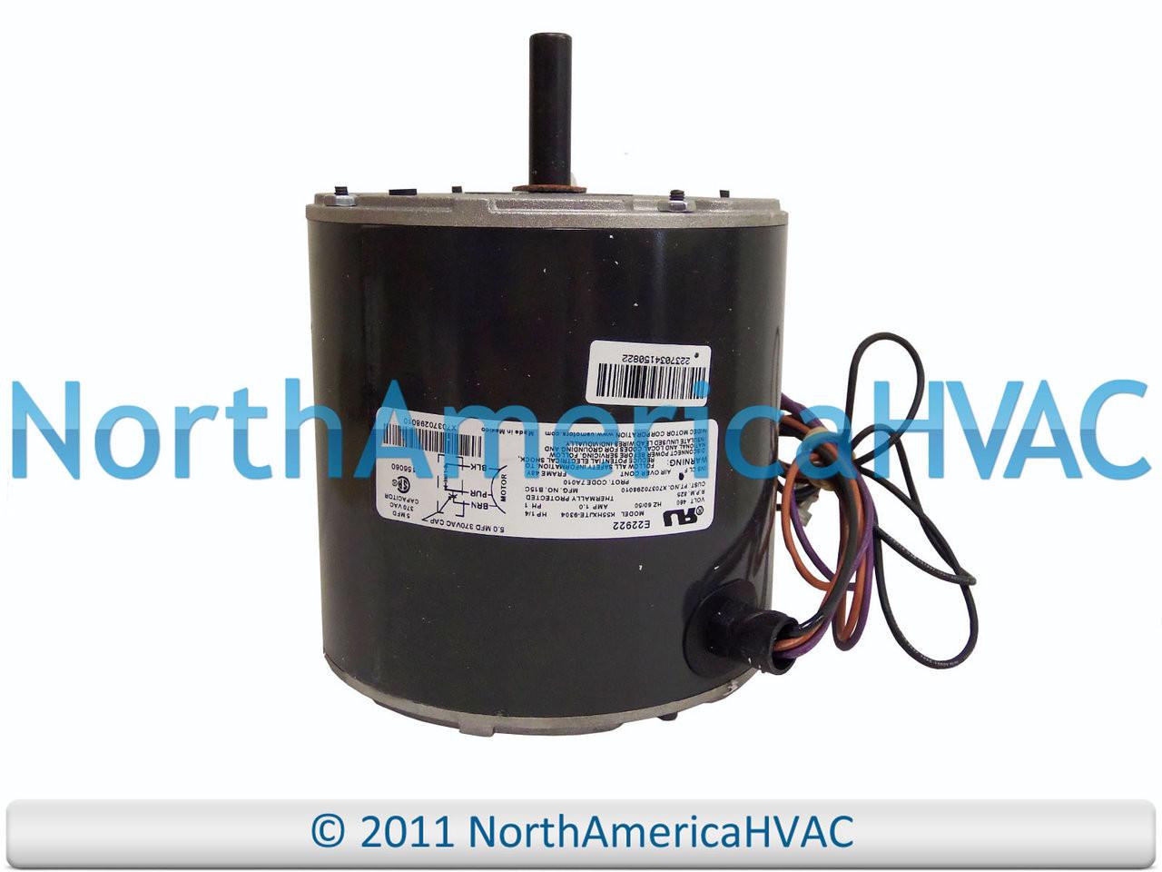 hight resolution of emerson trane american standard fan motor 1 6 hp 460 k55hxjte 9304 x70370298010 north america distribution sellersburg heating