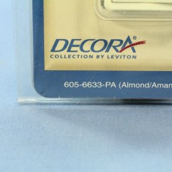 Leviton Slide Dimmer Wiring Diagram 4 Pin Relay Buy Almond Decora Lighted Switch
