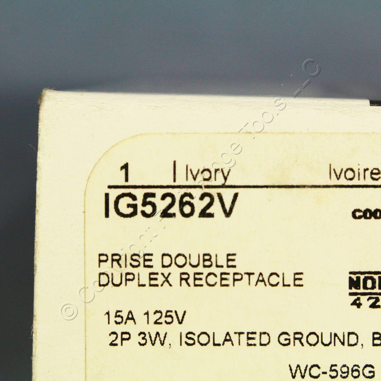 cooper white isolated ground surge suppressor receptacle isolated ground wiring shop new cooper ivory isolated ground receptacle duplex [ 1280 x 1280 Pixel ]