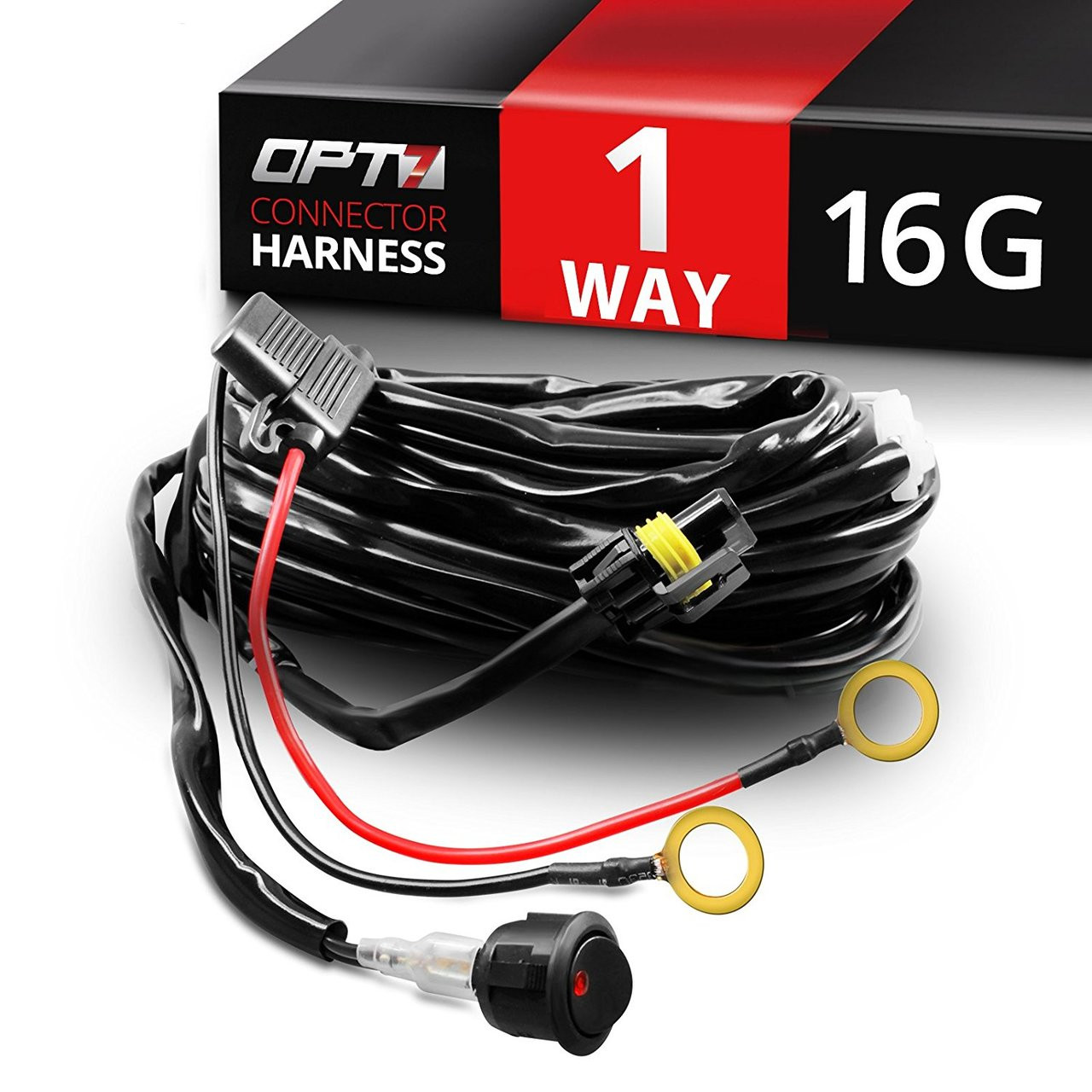 medium resolution of hd one led light bar wiring harness off road relay switch