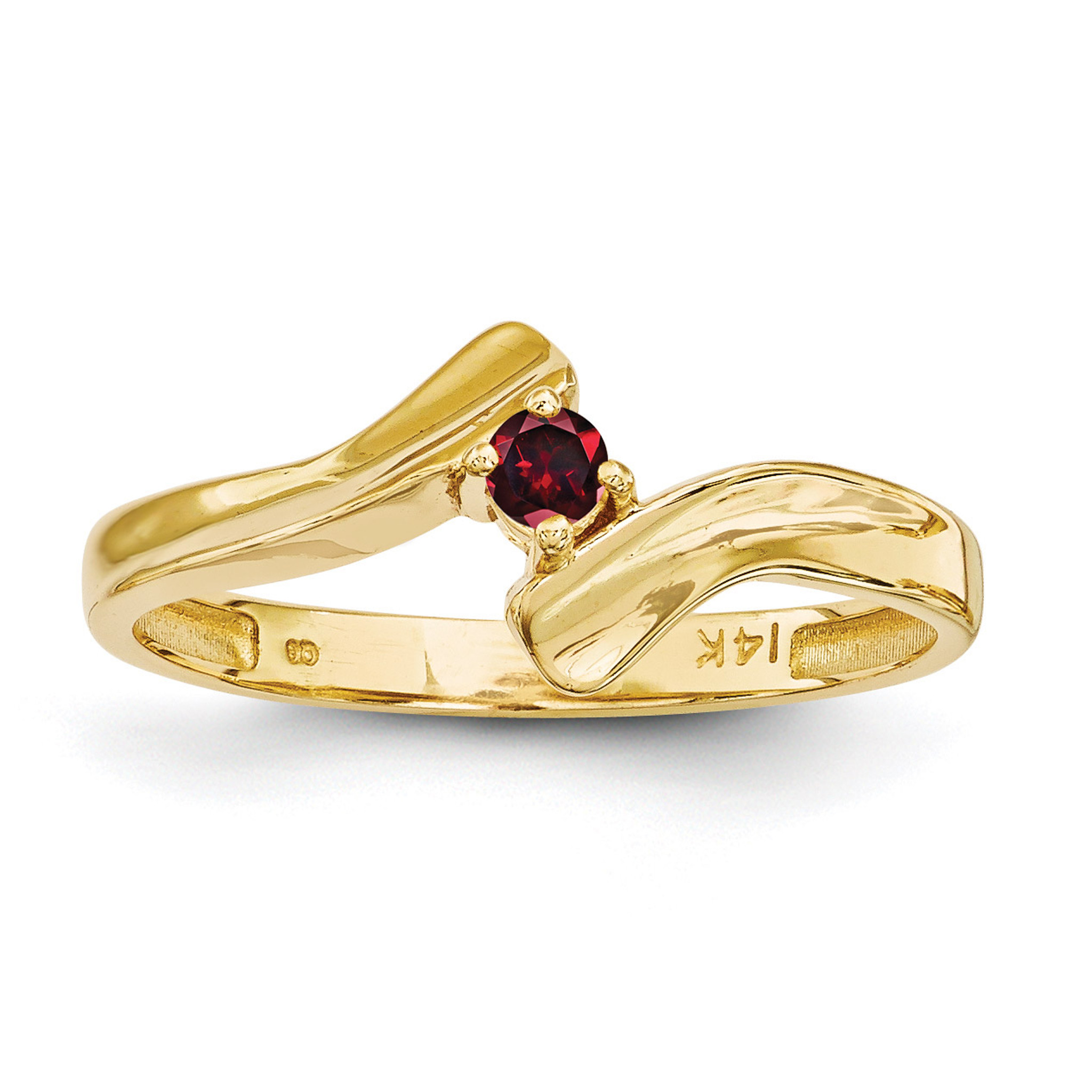 1 Birthstone Mothers Ring 14k Gold Polished Xmr13 - Homebello