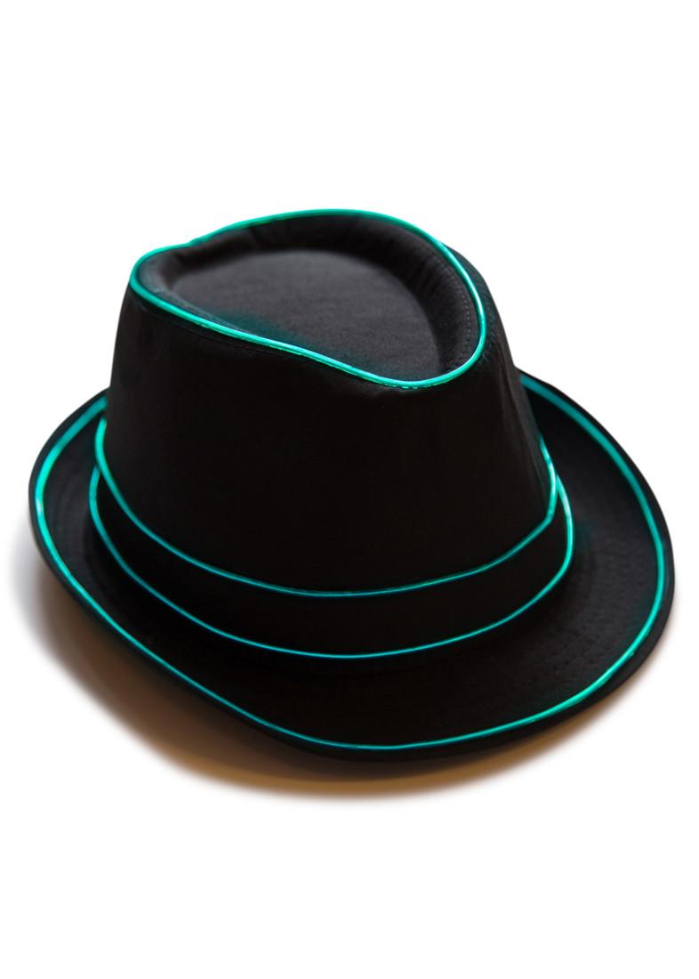 Light Up Fedora Hat  Neon Nightlife