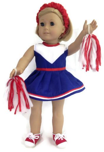 cheerleader-red white & blue