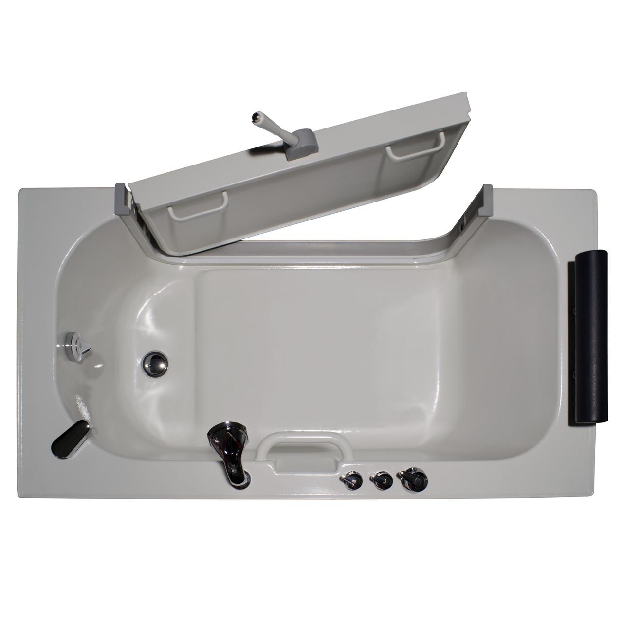Homeward Bath Soaking SitIn Tub 3ft Wide Outward Opening Door 59x32 Neptune Series HY1342