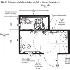 Shower Stall Diagram Speaker Jack Wiring And Schematic Ada Design Solutions For Bathrooms With Tub Compartments - Harbor City Supply
